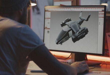 Visualiser le travail d'un designer graphique 3D en fabrication additive
